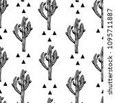 cactus seamless vector pattern...   Shutterstock .eps vector #1095711887