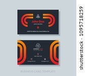 modern business card template... | Shutterstock .eps vector #1095718259
