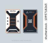 modern business card template... | Shutterstock .eps vector #1095718265