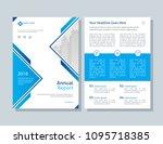 annual report  broshure  flyer  ... | Shutterstock .eps vector #1095718385