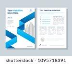annual report  broshure  flyer  ... | Shutterstock .eps vector #1095718391