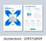 annual report  broshure  flyer  ... | Shutterstock .eps vector #1095718409