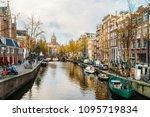 amsterdam  netherlands  ... | Shutterstock . vector #1095719834