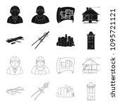 drawing accessories  metropolis ... | Shutterstock .eps vector #1095721121