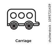 carriage icon isolated on white ... | Shutterstock .eps vector #1095721439
