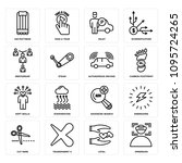 set of 16 simple editable icons ...   Shutterstock .eps vector #1095724265