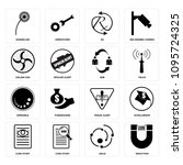 set of 16 simple editable icons ...   Shutterstock .eps vector #1095724325