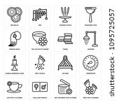 set of 16 simple editable icons ... | Shutterstock .eps vector #1095725057