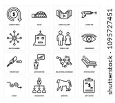 set of 16 simple editable icons ... | Shutterstock .eps vector #1095727451