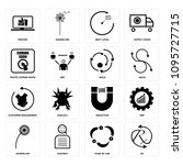 set of 16 simple editable icons ... | Shutterstock .eps vector #1095727715