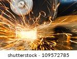 grinder sparks | Shutterstock . vector #109572785