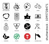 set of 16 simple editable icons ... | Shutterstock .eps vector #1095728471