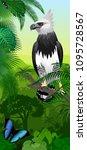vector jungle rainforest... | Shutterstock .eps vector #1095728567