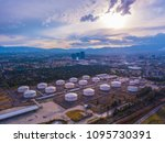aerial view of huge tanks of a... | Shutterstock . vector #1095730391