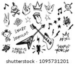 punk rock n roll elements... | Shutterstock .eps vector #1095731201