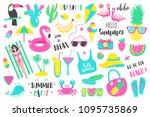 summer set of design holiday... | Shutterstock .eps vector #1095735869