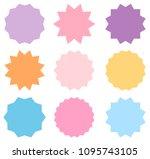 set of vector pastel colored... | Shutterstock .eps vector #1095743105