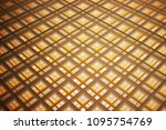 dropped ceiling with cellular ...   Shutterstock . vector #1095754769