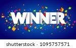 winner congratulations confetti ... | Shutterstock .eps vector #1095757571