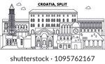 croatia  split line skyline... | Shutterstock .eps vector #1095762167