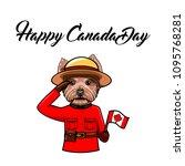 yorkshire terrier. happy canada ... | Shutterstock .eps vector #1095768281