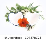 Herbs And  Hearts Background