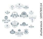 sport balls logo icons set....   Shutterstock .eps vector #1095785114