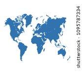 color world map  | Shutterstock .eps vector #1095787334