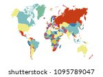 color world map  | Shutterstock .eps vector #1095789047