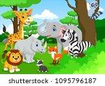 cute animal cartoon in the...   Shutterstock .eps vector #1095796187