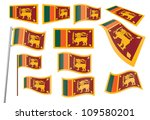 set of flags of sri lanka... | Shutterstock .eps vector #109580201