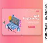 web programming concept ... | Shutterstock .eps vector #1095804821