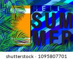 hello summer concept with... | Shutterstock .eps vector #1095807701