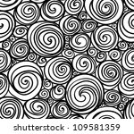 Seamless Doodle Abstract Swirl...