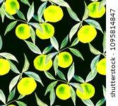 watercolor seamless pattern... | Shutterstock . vector #1095814847