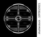 hud futuristic elements data... | Shutterstock .eps vector #1095815021