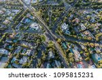 Small photo of Aerial view of six way intersection at N Beverly Drive and N Canon Drive and Lomitas Ave in beautiful Beverly Hills, California.
