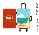 happy holiday and travel around ... | Shutterstock .eps vector #1095824105