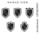 shield vector icon | Shutterstock .eps vector #1095829607
