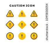 Set Of Caution Icons. Caution...