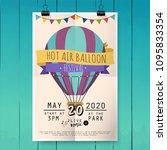 hot air balloon festival.... | Shutterstock .eps vector #1095833354