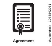 agreement icon isolated on... | Shutterstock .eps vector #1095842051
