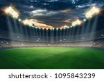 stadium in the lights and... | Shutterstock . vector #1095843239