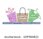 mobile shopping icon design... | Shutterstock . vector #109584821