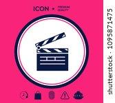 clapperboard icon symbol | Shutterstock .eps vector #1095871475