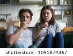 scared millennial couple... | Shutterstock . vector #1095874367