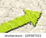 grass arrow on crack ground.... | Shutterstock .eps vector #109587521