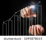 businessman with financial... | Shutterstock . vector #1095878015