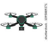 isolated drone toy icon | Shutterstock .eps vector #1095889271