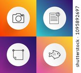 modern  simple vector icon set... | Shutterstock .eps vector #1095892697